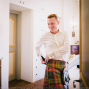 groom getting ready in Villa mangiacane
