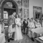 bride and groom getting married in Villa Mangiacane