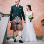 bride and groom in villa mangiacane