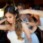 Planning your wedding at Sierra Lago, Mascotas - bride and hairdresser