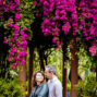 couple posing in jardin majorelle