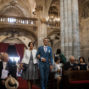 french groom enters portugese church with his mom