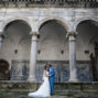 bride and groom posing in Viseu