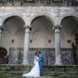 bride and groom posing in Viseu