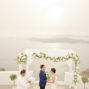 couple with elopement celebrant in santa irini santorini